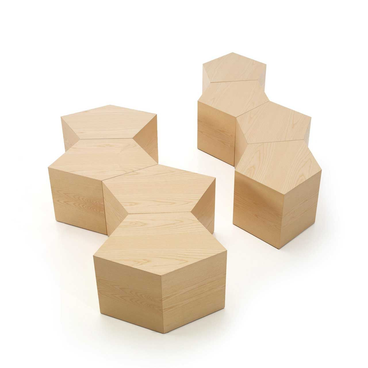 A table in the shape of a modular system of pentagons http://www.morfae.com/a-table-in-the-shape-of-a-modular-system-of-pentagons/ #design   #table   #furniture