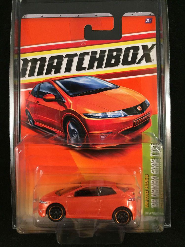 2011 Matchbox Metro Rides 08 Honda Civic Type R Orange 29 W Protecto