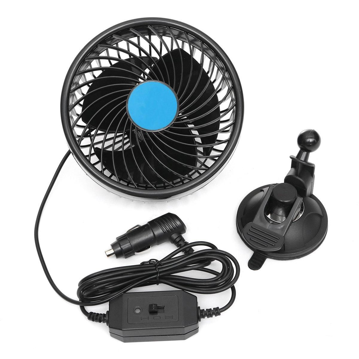 Dc 12v 24v 6 Inch Air Cooling Fan Mini Rotatable Fan With Sucker