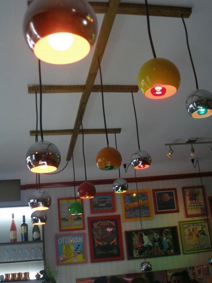 ceiling ... Guzzini lamps, vintage support: Miroslav Brna, interior design: Miroslav Brna & Miroslav Soltys, #MiroslavBrna, #solto