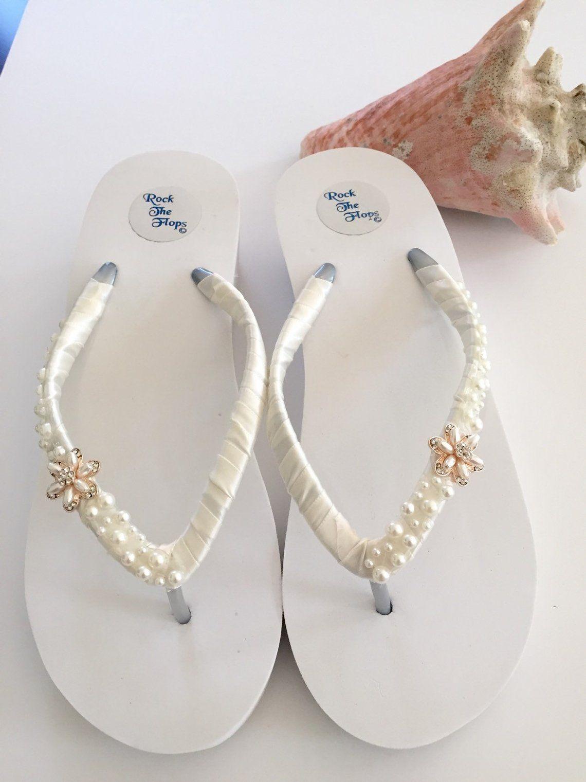 Bridal flip flopswedgeswedding shoeswedding sandals