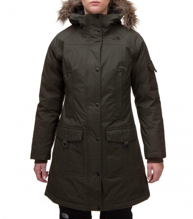 abrigo plumas north face mujer