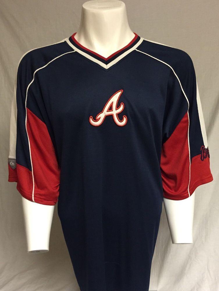 the best attitude 971ae faba8 Details about Majestic Genuine Merchandise Atlanta Braves ...