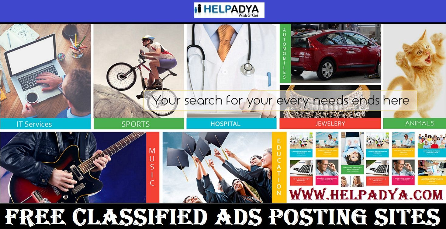 All in One Solution For Free Classified Ads Posting Sites