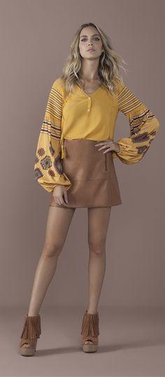 Estampas inspiradas nos bordados romenos são inspiração para essa temporada!