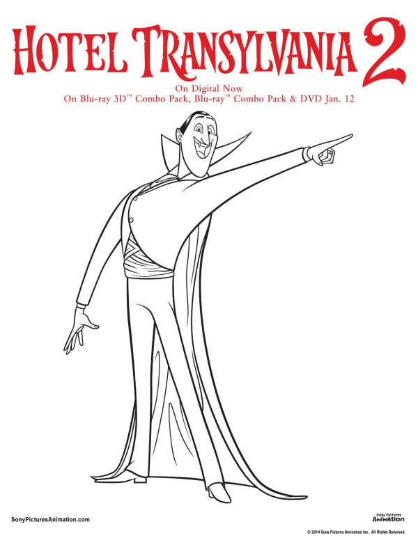 Free Hotel Transylvania Printable Dracula Coloring Page Printable - halloween decoration printables