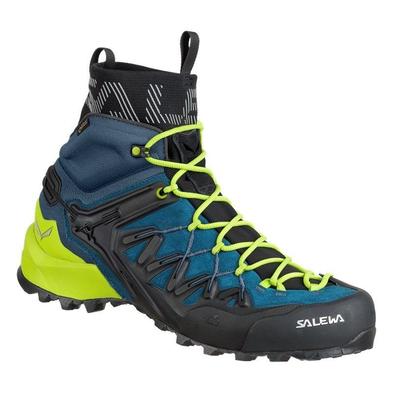 Buty Salewa Ms Wildfire Edge Mid Gtx 8971 Poseidon Cactus Niebieski Salewa24 Pl Buty Meskie Buty Boots Men Men S Shoes Shoes Mens