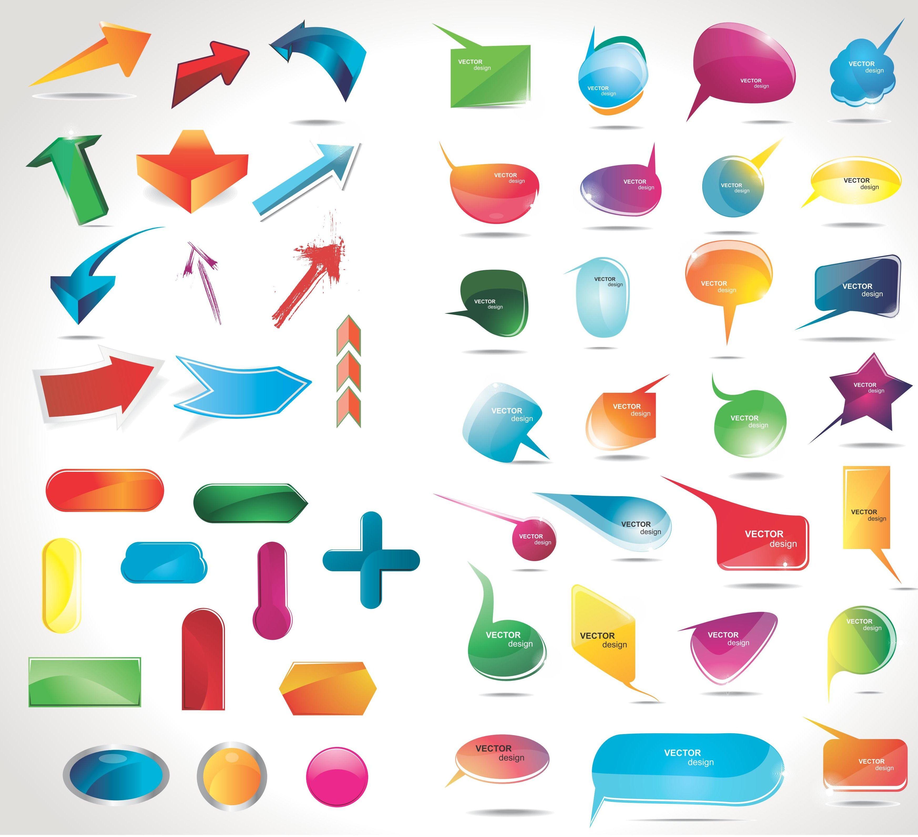 Car body sticker design eps - Speech Bubble Labels And Stickers Eps File 3d Bubbles 3d Labels