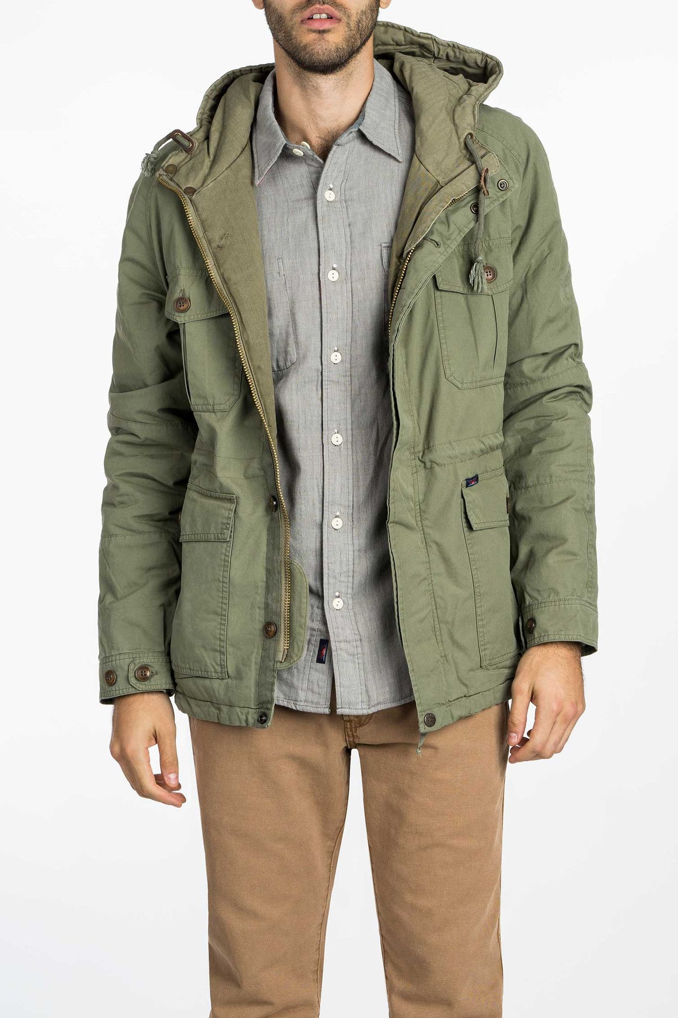 olive green mens utility jacket | sartorial | Pinterest | Parka