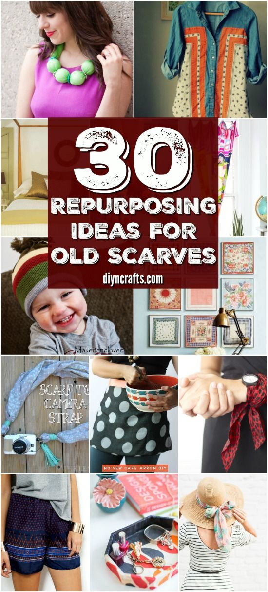 30 Brilliant Repurposing Ideas For Old Scarves That You