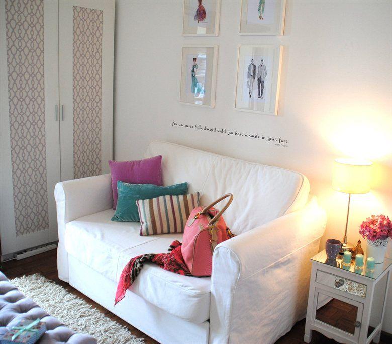 comfy dressing room  fashion prints in ribba frames