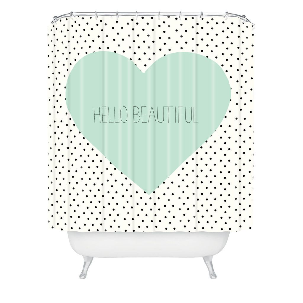 Allyson Johnson Hello Beautiful Heart Shower Curtain | DENY Designs Home  Accessories