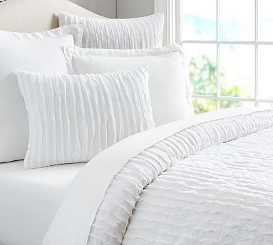 Camille Sham Euro Gray At Pottery Barn Bedding Duvet Covers Amp Shams White Duvet Organic