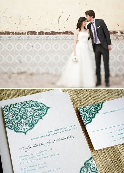 Tourist Couple Getting Married In Morocco Moroccan Themed Wedding Invitations Below