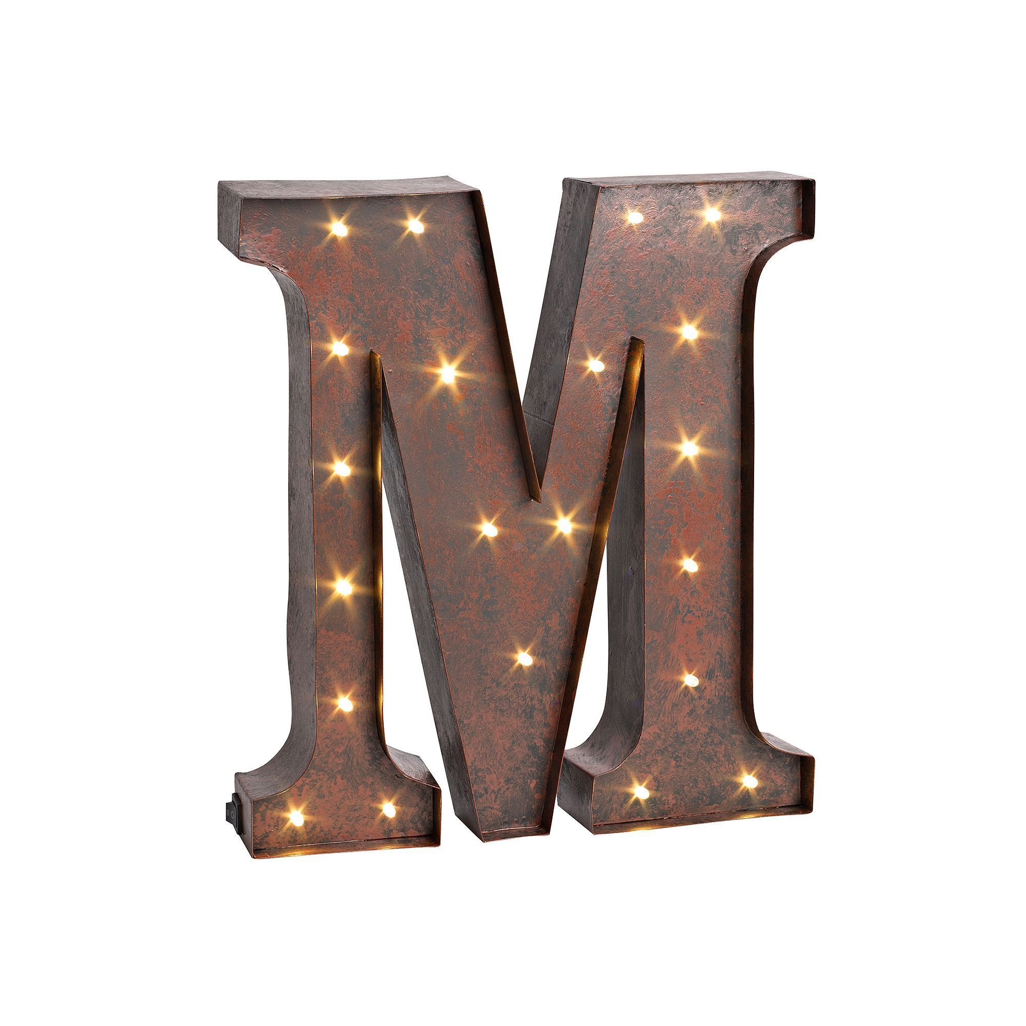 LED Letter Wall Decor, Brown