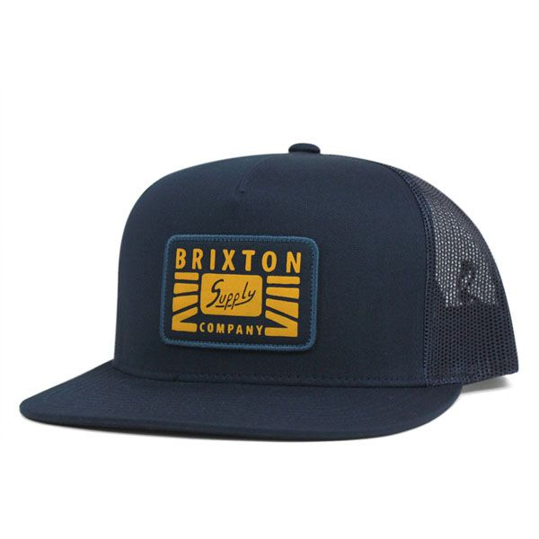 Petrol Trucker Hat by Brixton- NAVY Brixton Hats d973f3b88951