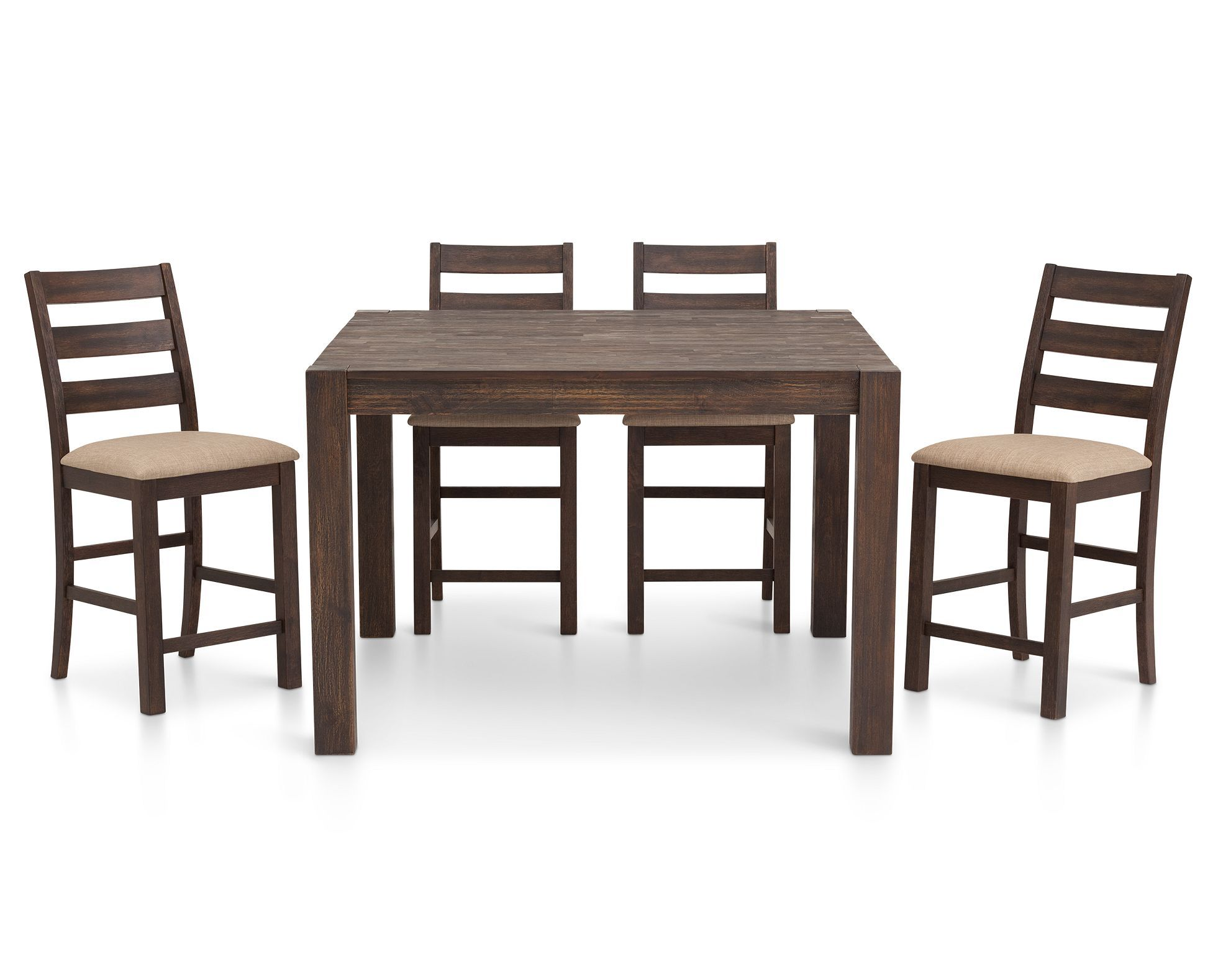 Streamlined Shaker Styling Shines In The Alpine 5 Piece Counter Height Dining Set Furniturerow Living Room Decor Modern Rowe Furniture Counter Height Table