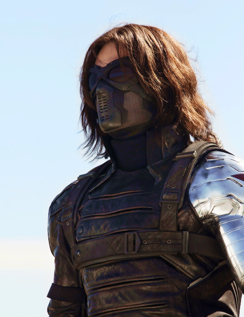 I am so in love with the Winter Soldier's hair. Not all men pull ...