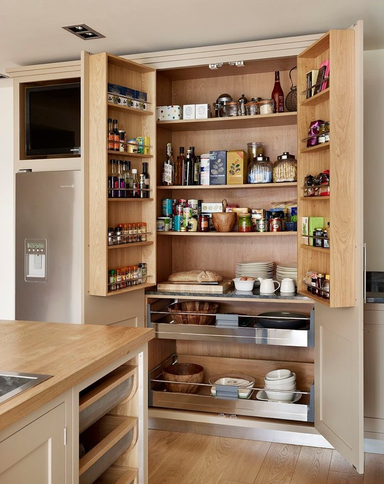 Kitchen With Portable Kitchen Pantry Furniture And Food Storage