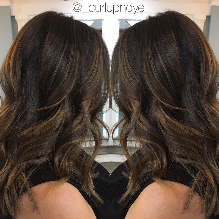 Image Result For Partial Balayage On Dark Hair