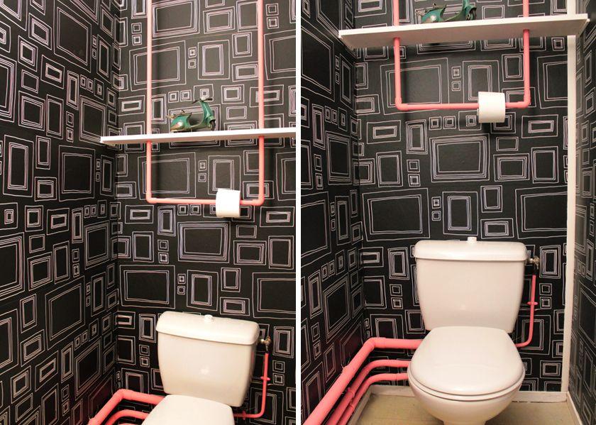 Tapisserie pour wc meilleures images d 39 inspiration pour votre design de - Papier peint pour toilette ...