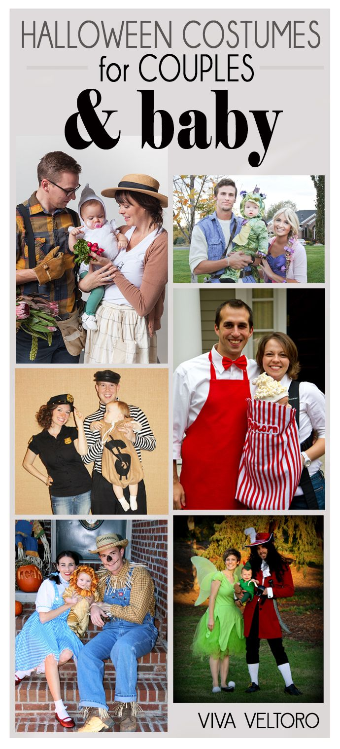 Family Halloween costume ideas for couples and a baby! So
