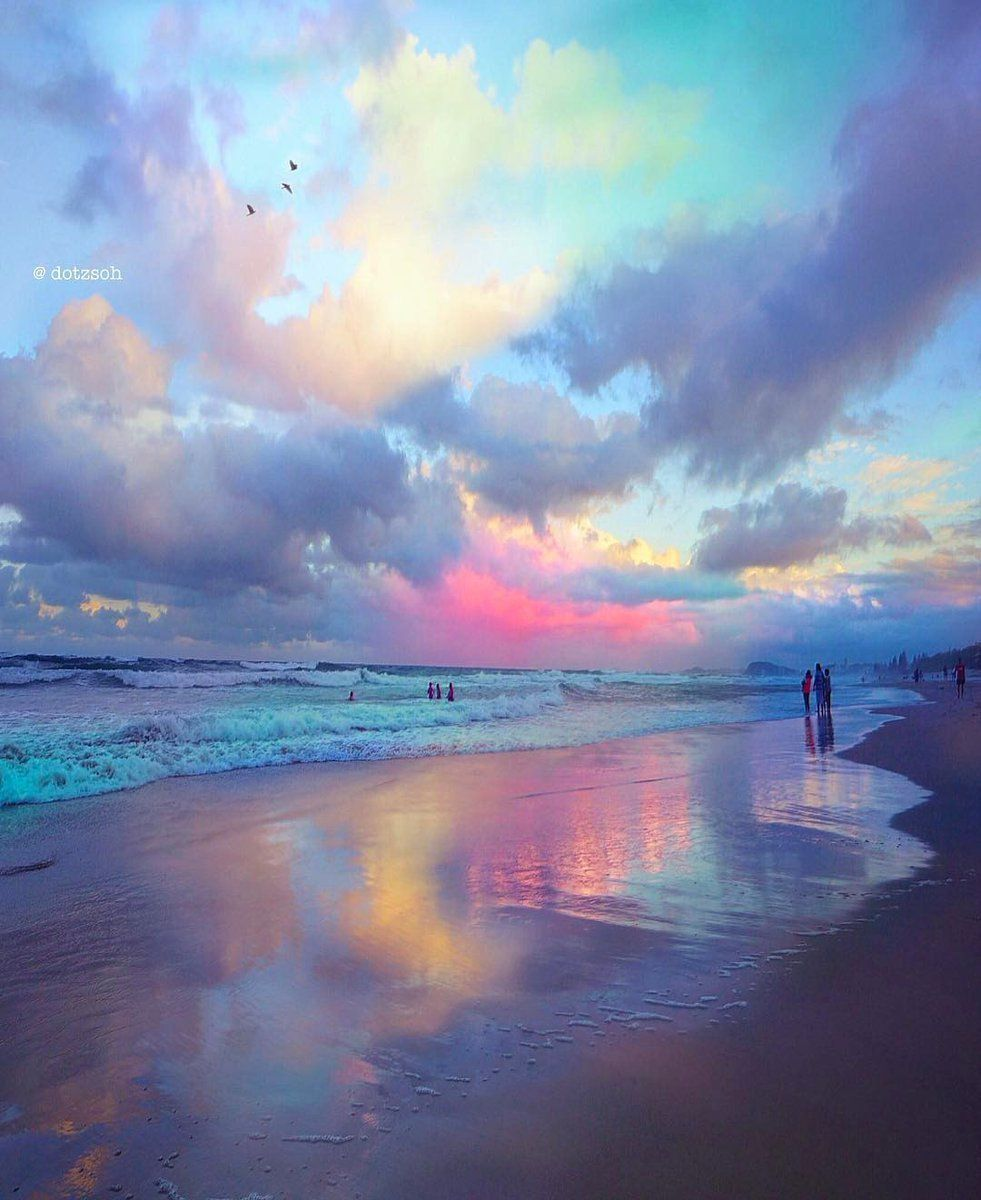 Often The Beach Provides The Most Dramatic Art Beautiful Sky Beautiful Landscapes Nature