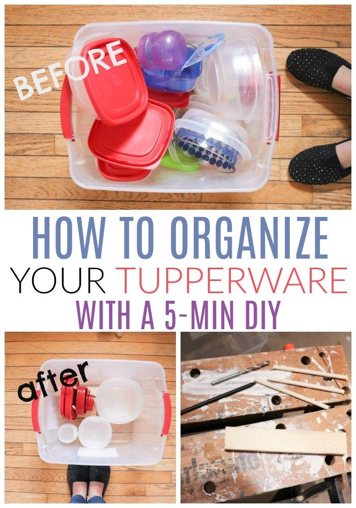 five minutes to organize your tupperware tupperware on garage organization ideas that will save you space keeping things simple id=88870