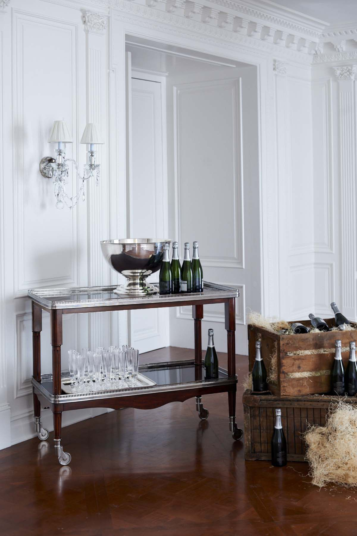 The One Fifth Drinks Trolley In Estate Mahogany From Ralph