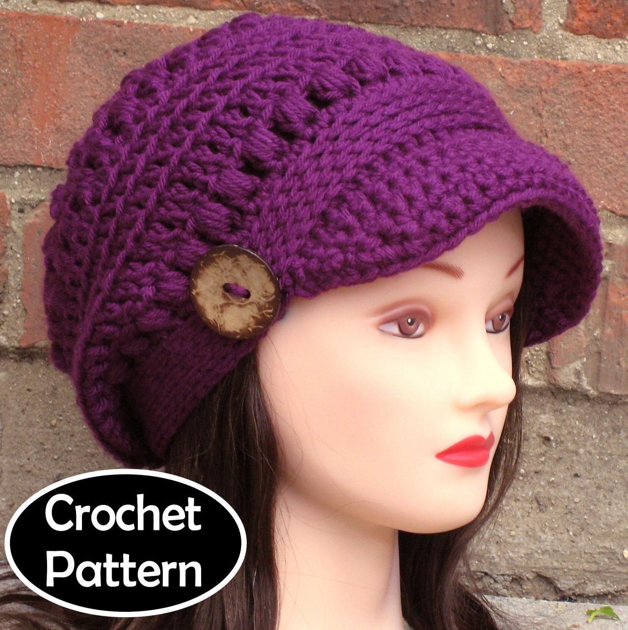 CROCHET HAT PATTERN - Brooklyn Newsboy Hat Slouchy | Craft Ideas ...