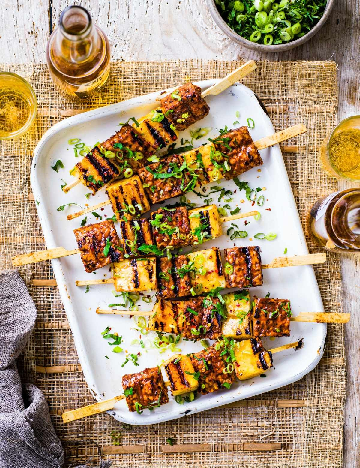 Umeboshi Tempeh And Pineapple Kebabs