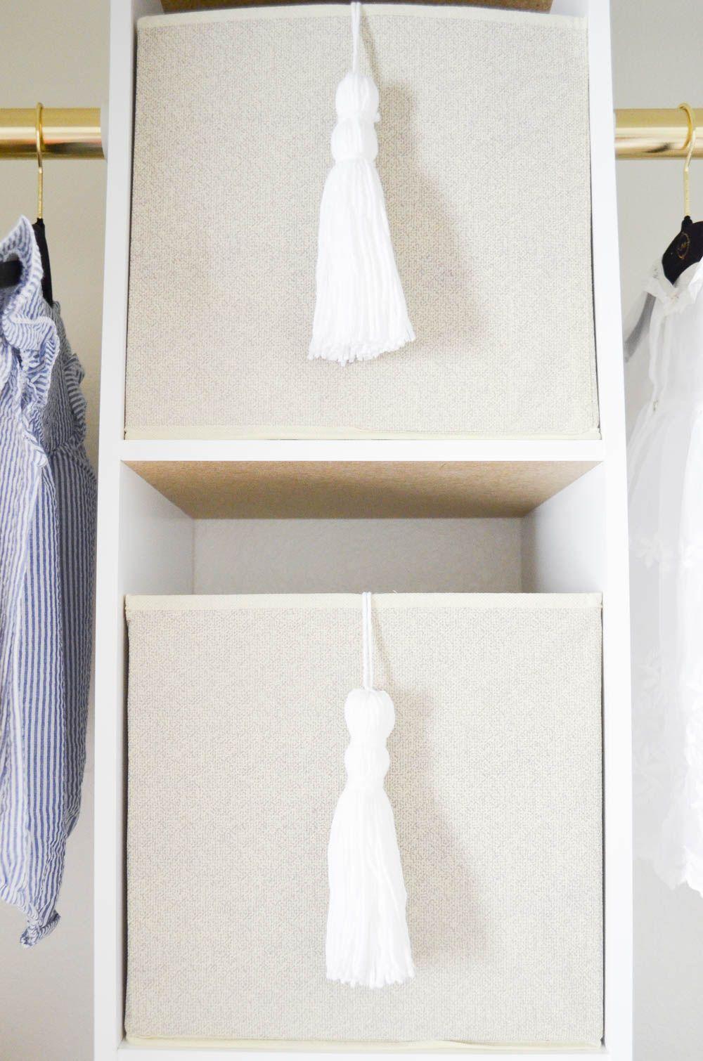 How to create a glam custom nursery closet on a budget storage