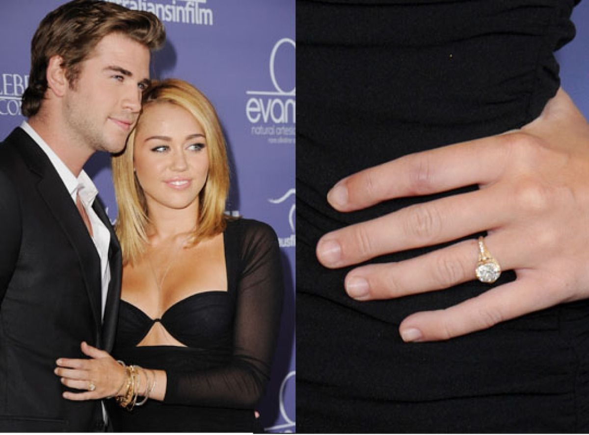 Miley And Liam Engaged? Celebrity Engagement Ringsdiamond