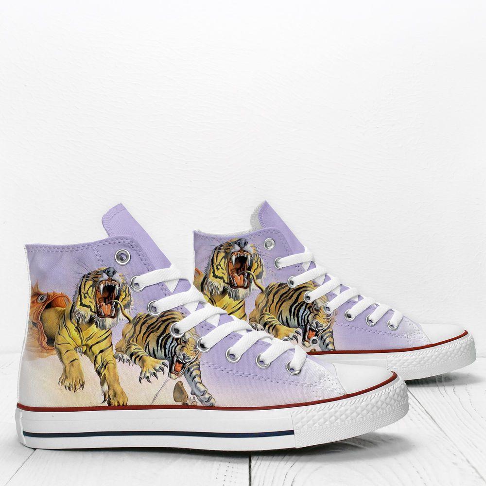 1c1cd04cba97 Salvador Dali s Tigers Custom Hi Top designer s shoes PROSPECT AVENUE  sneakers  PROSPECTAVENUE  CasualShoes