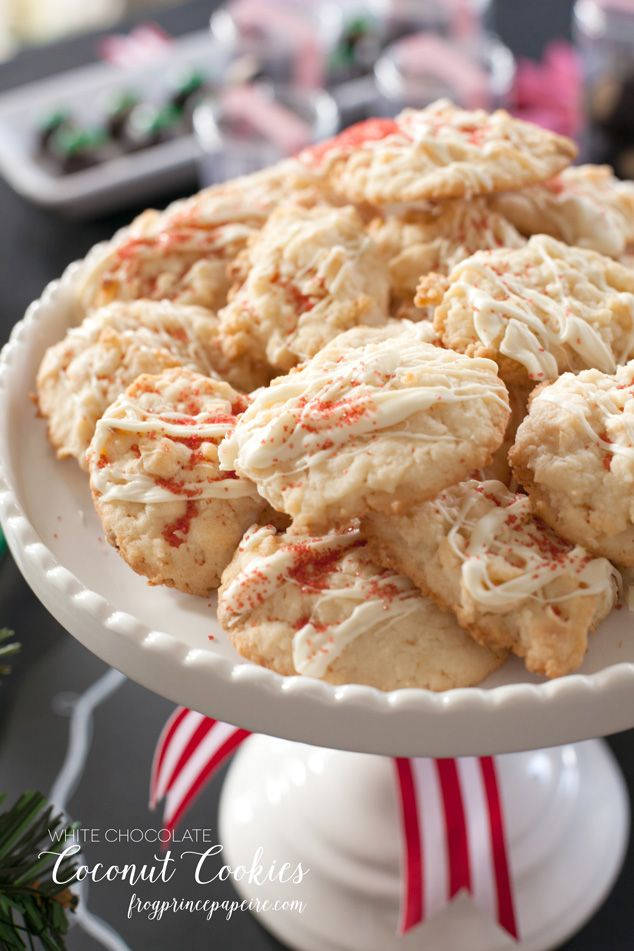 Christmas Cookies White Chocolate Coconut Cookies Christmas
