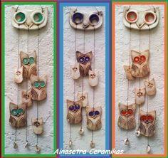 Llamador De ángeles Búhos Feria Central Arcilla