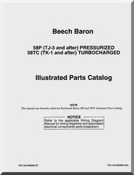 Beechcraft Baron 58 P TC Aircraft Parts Catalog Manual - | Aircraft
