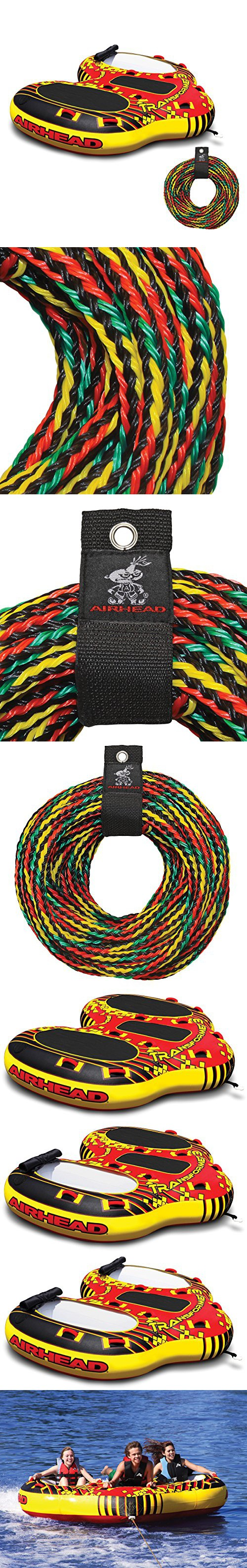 Airhead Transformer 3 Rider Towable Tube 60 Foot Tow Rope Harness For Towables