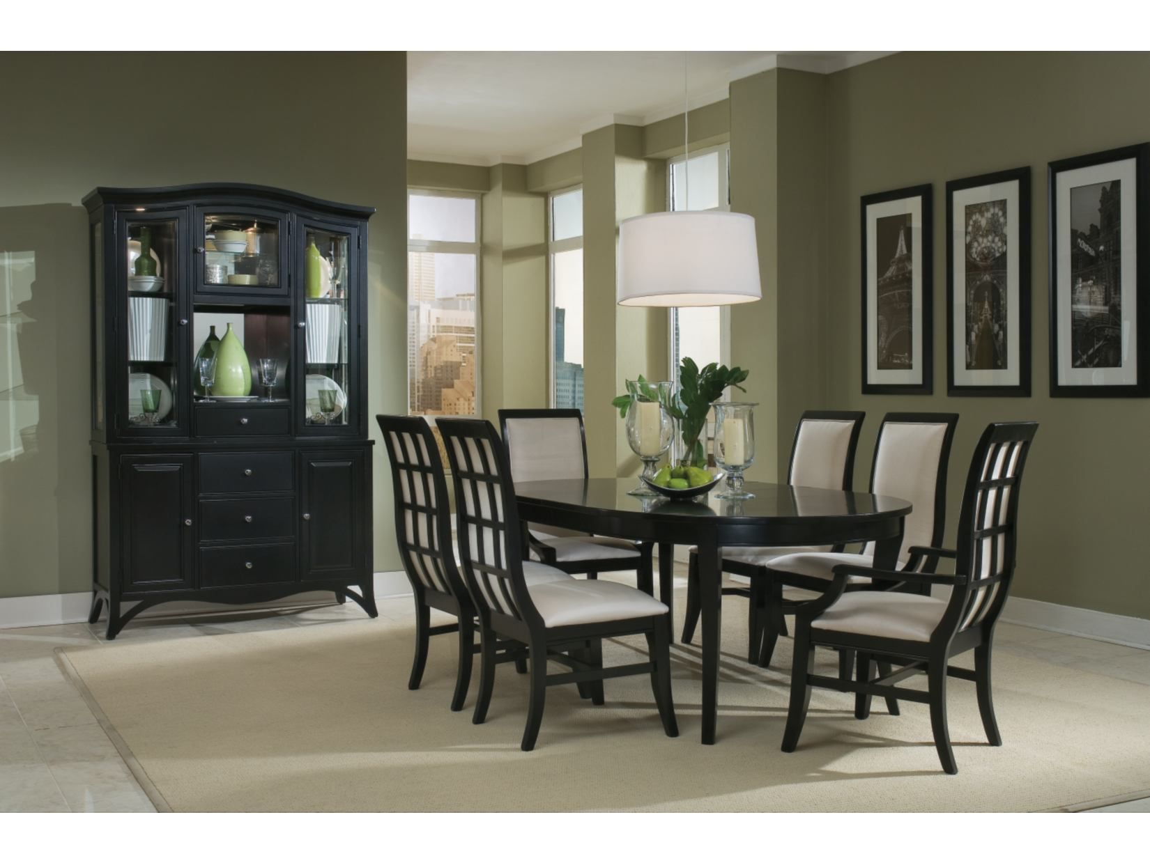 Exceptional Studio One Black 5 PC Round Table Dining Set   American Signature Furniture