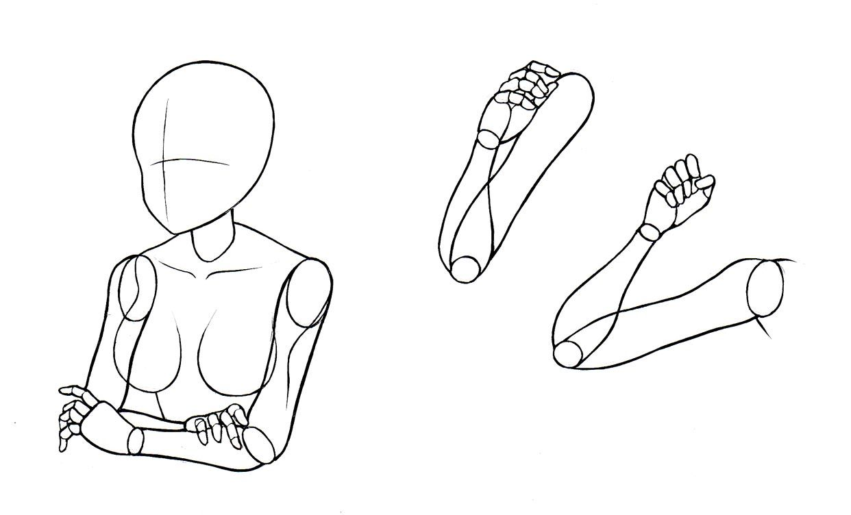 How To Draw Manga Bodies Part 2 Anime Arms Anime Drawings Drawings
