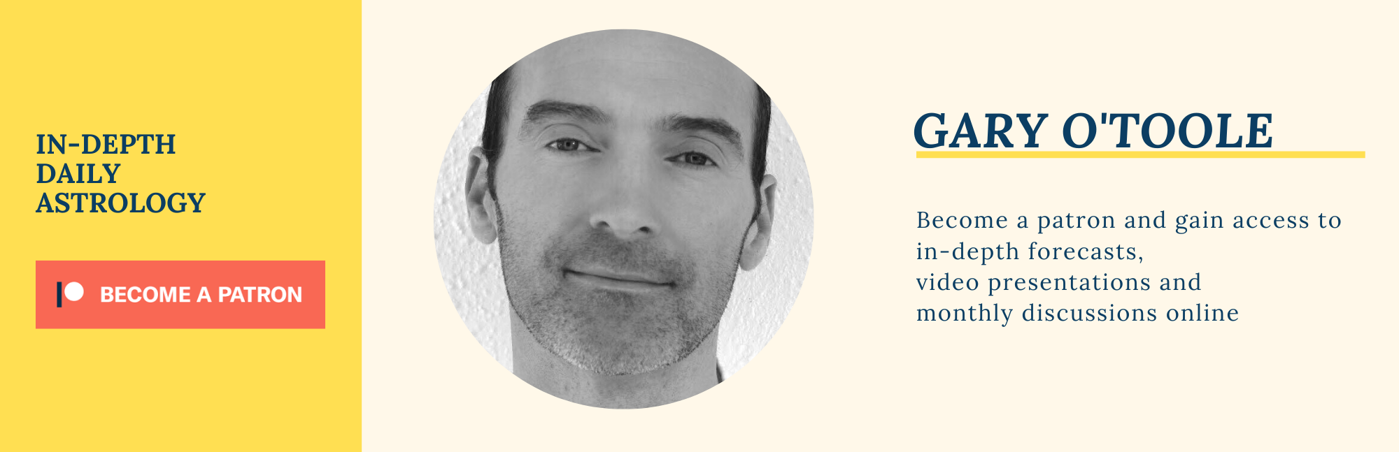 Gary O'Toole in 2020 Daily astrology, Astrology
