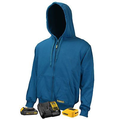 f7c8c33a73 Jackets and Vests 175629  Dewalt Dchj069c1 20V Max Unisex Blue Fleece Heated  Hoodie