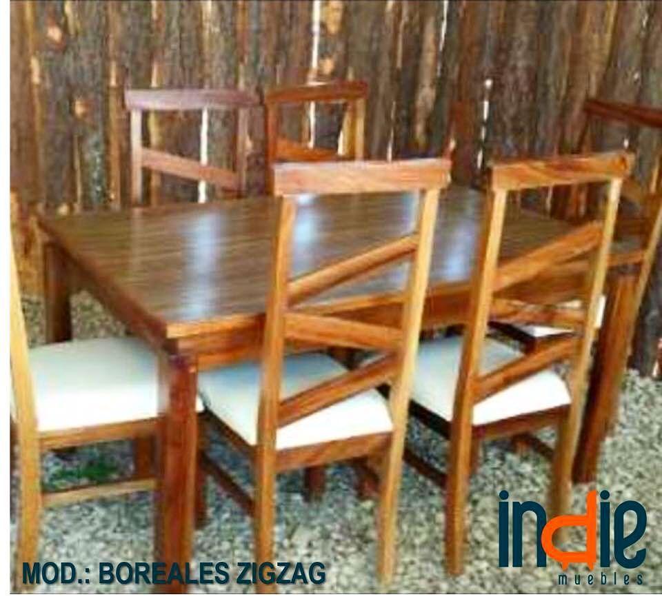 Comedor Modelo Boreales Zigzag Nuestros Muebles Son Fabricados  # Muebles Saez Las Tablas