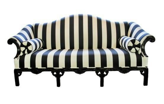 Black And White Striped Sofa Vintage Sofa Striped Couch Home