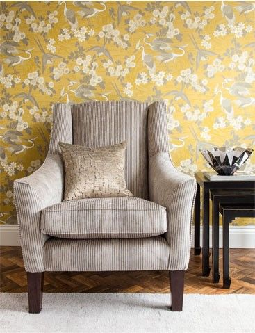 On Trend Colour Scheme With A Fabulous Wallpaper Design In
