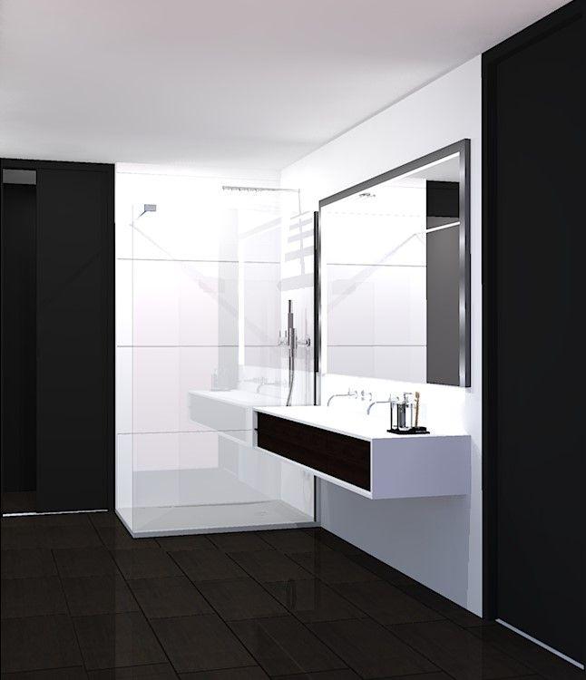 Salle de Bain Epurée Noire et Blanche | Badezimmer und Baden