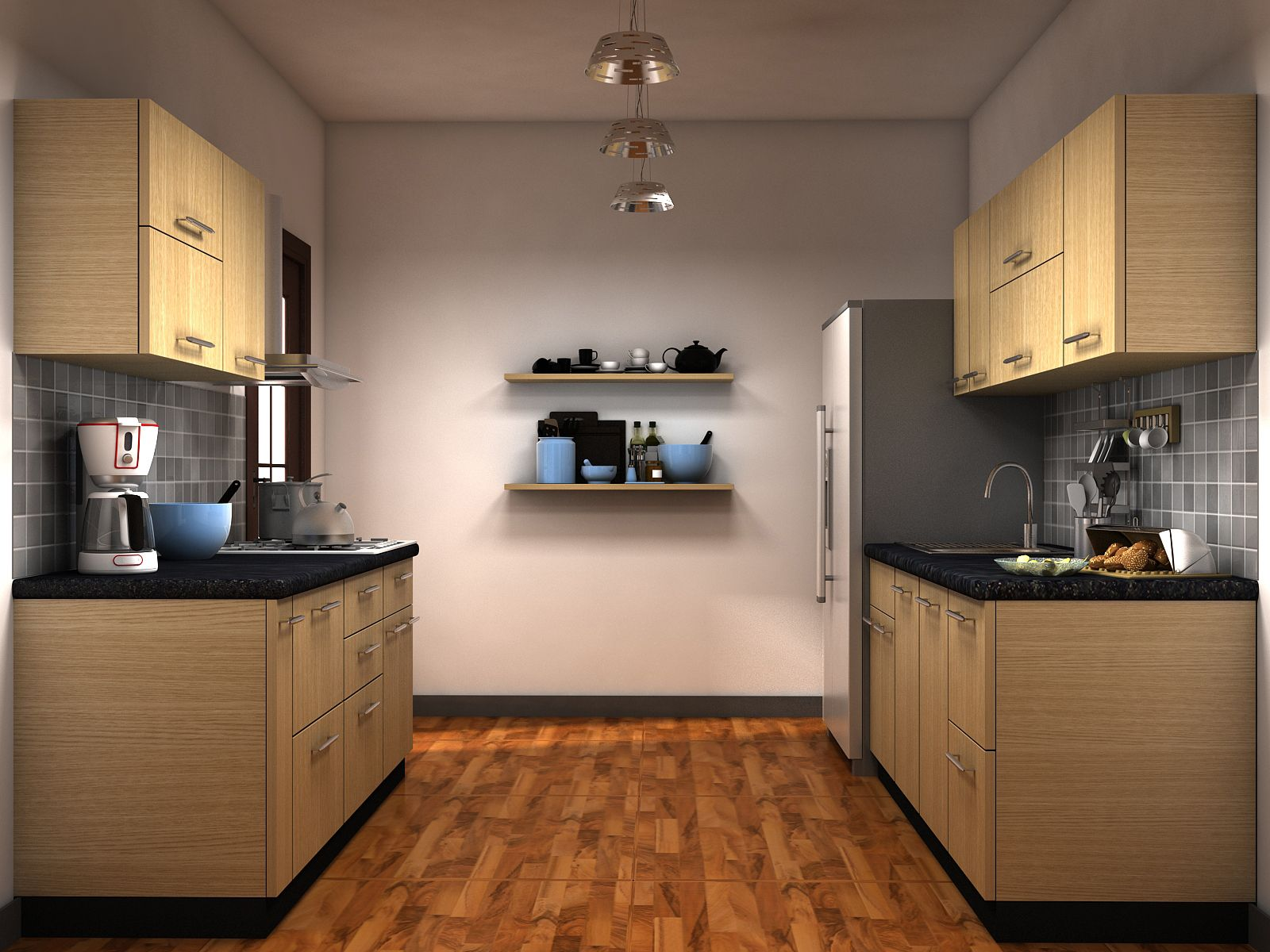 Parallel modular kitchen designs Home Kitchen