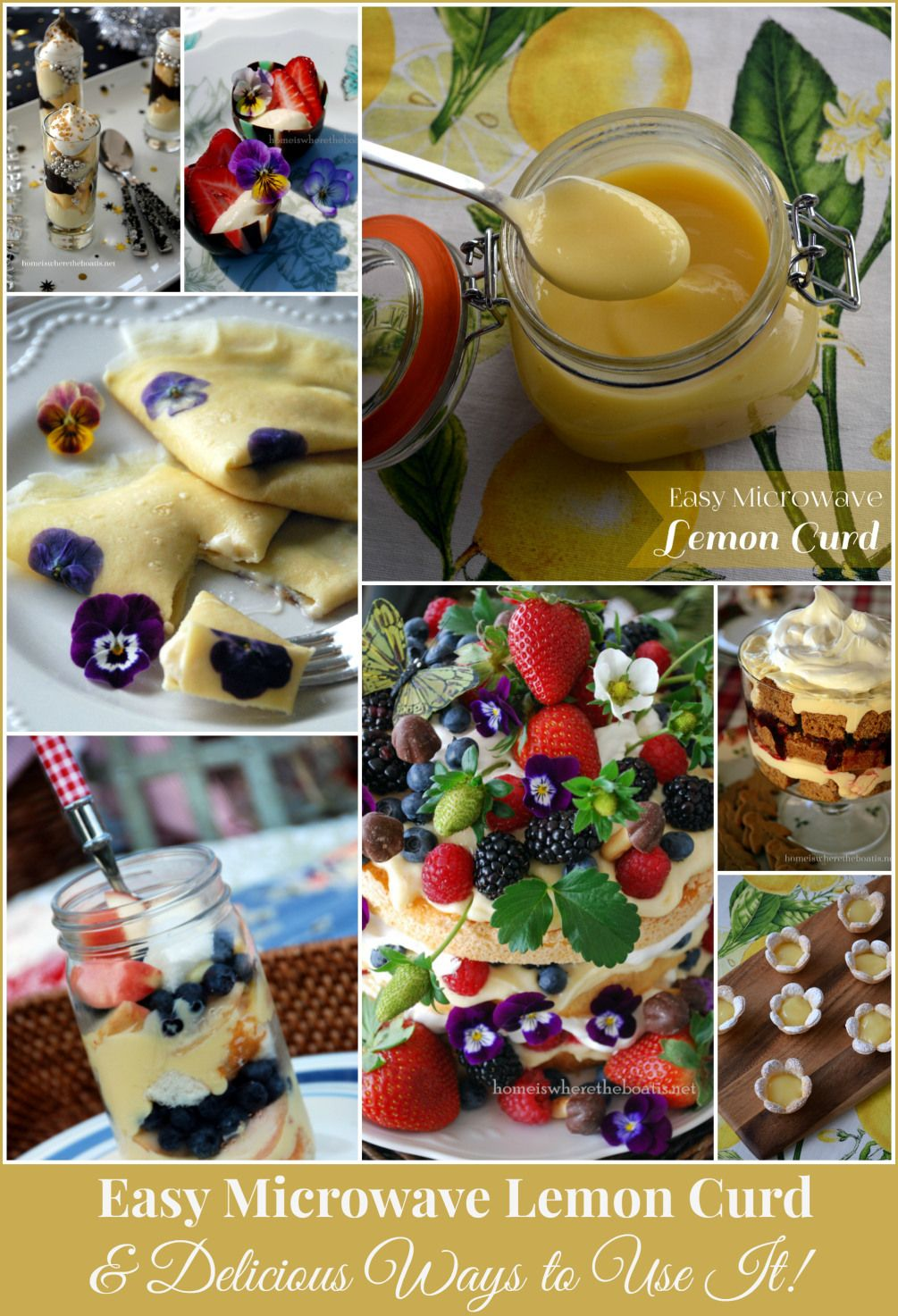 Easy Microwave Lemon Curd and Delicious Ways to Use It!   homeiswheretheboatis.net #recipe #easy #dessert