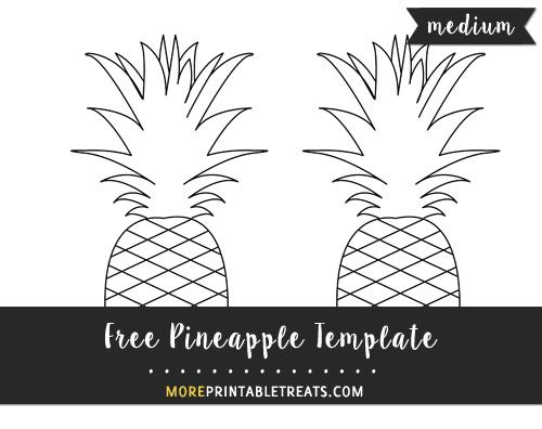 free pineapple template medium size shapes and templates