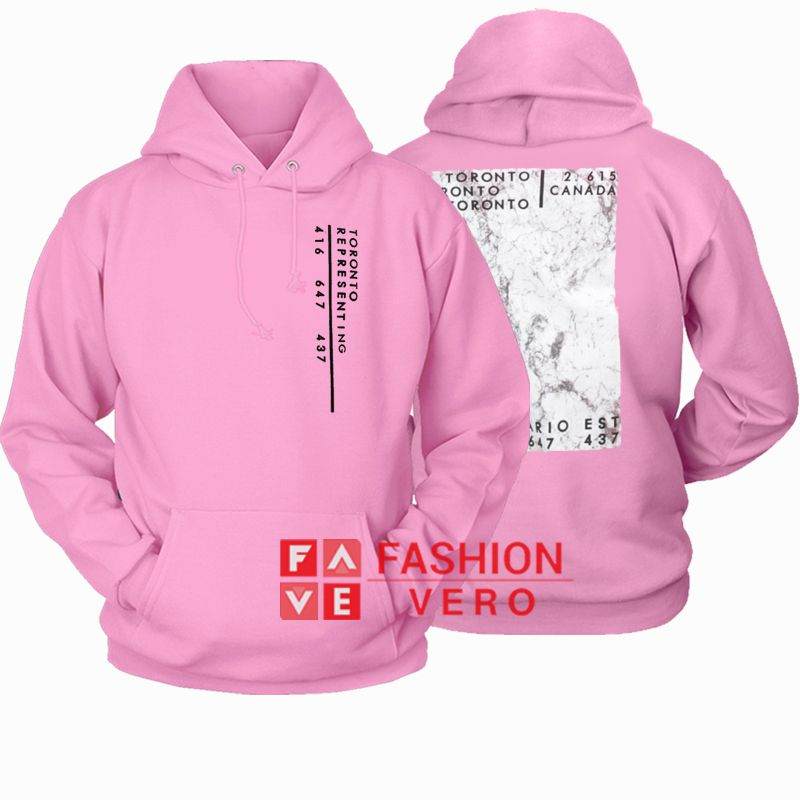Toronto Representing Light Pink HOODIE  Unisex Adult Clothing is part of Light Pink Clothes - Toronto Representing Light Pink HOODIE  Unisex Adult Clothing Everything is hand printed by me at my house using Ecofriendly inks and supplies